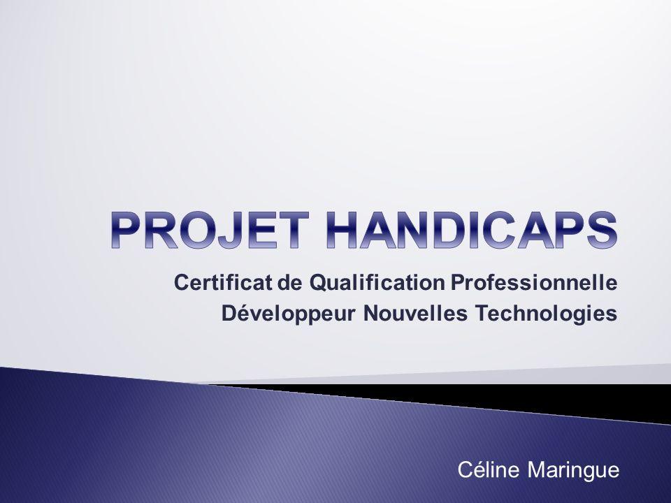 Certificat de Qualification Professionnelle Développeur Nouvelles Technologies Céline Maringue