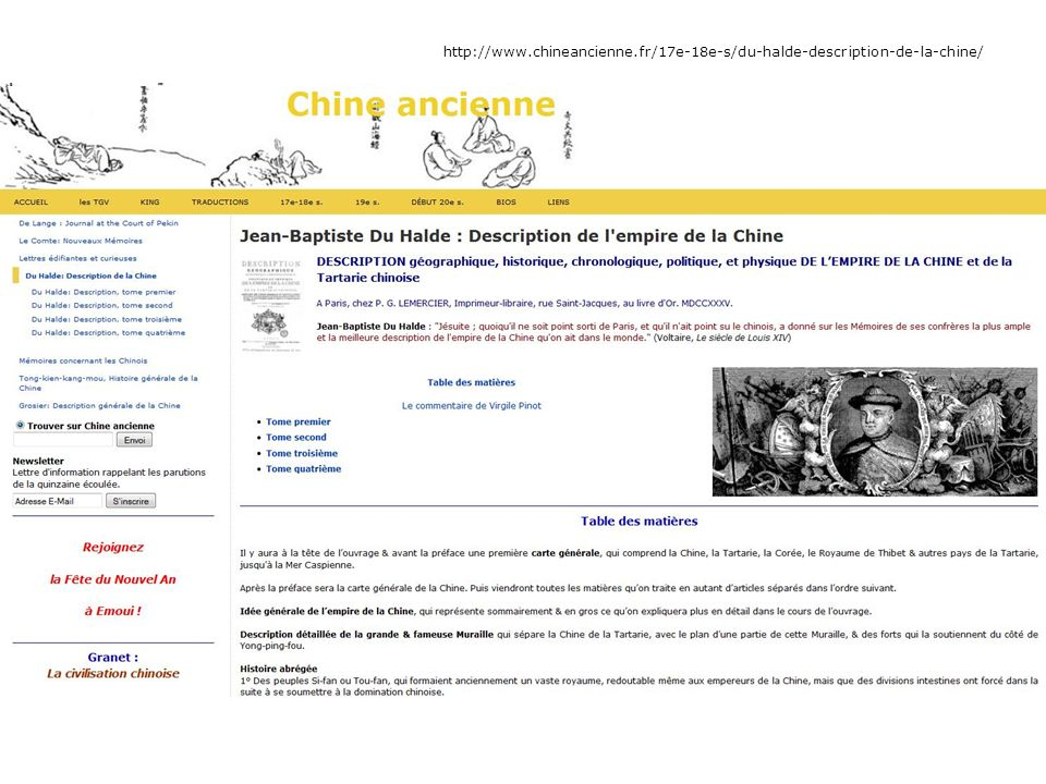 Facebook : http://www.facebook.com/chineancienne