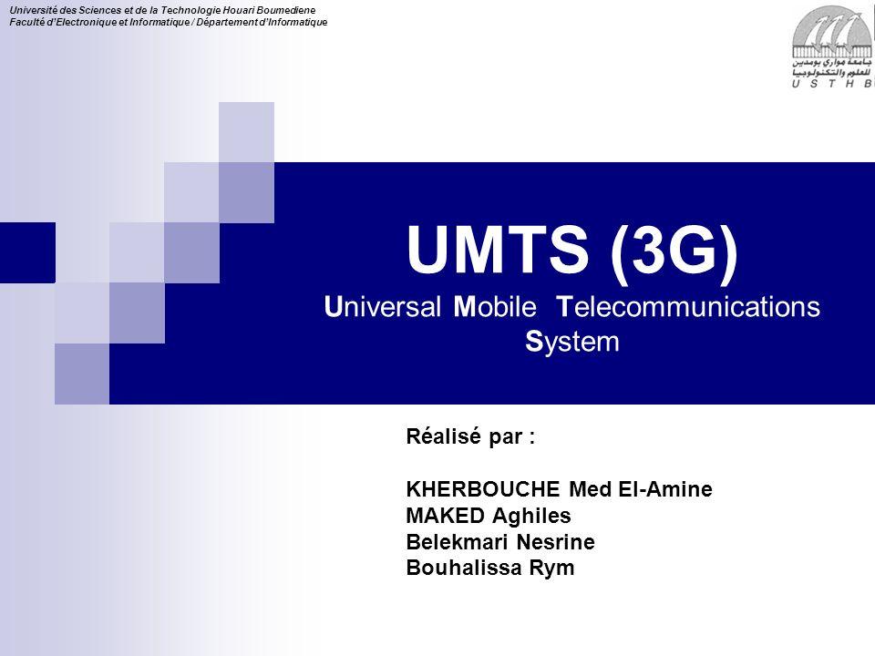 12 16/11/2013 Architecture de lUMTS Architecture Physique Domaine de l équipement usager (UE) Domaine de l infrastructur e Domaine du réseau cœur (CN) Module d identité des services de lusager (USIM) Domaine du réseau d accès (UTRAN) 1 - Architecture physique Equipement mobile (ME)