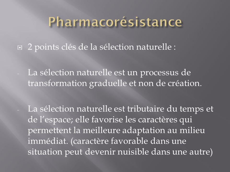 2 points clés de la sélection naturelle : - La sélection naturelle est un processus de transformation graduelle et non de création. - La sélection nat