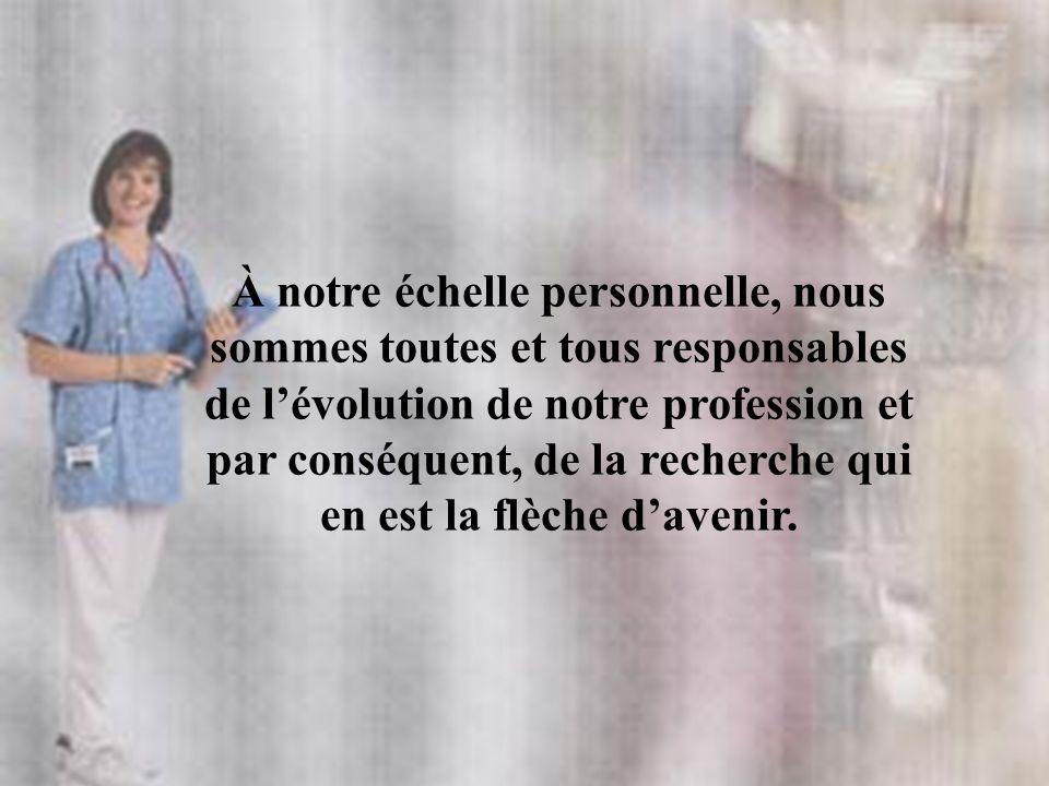 À notre échelle personnelle, nous sommes toutes et tous responsables de lévolution de notre profession et par conséquent, de la recherche qui en est l