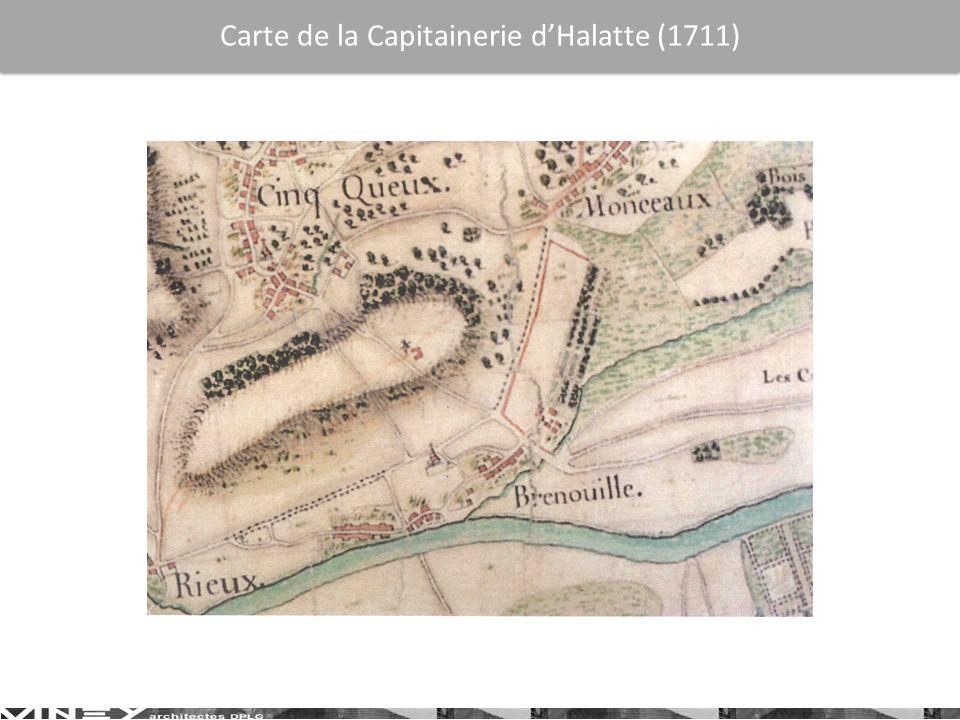 Carte de la Capitainerie dHalatte (1711)