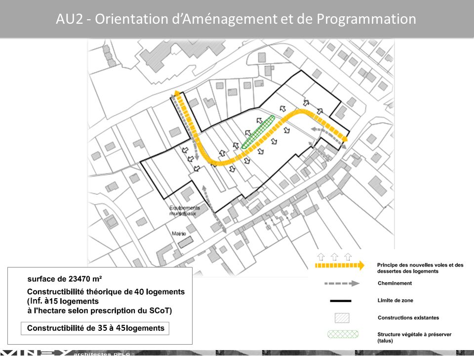 40 35 à 45 Inf. à AU2 - Orientation dAménagement et de Programmation