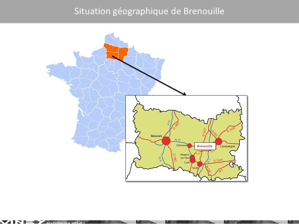 Brenouille Situation géographique de Brenouille