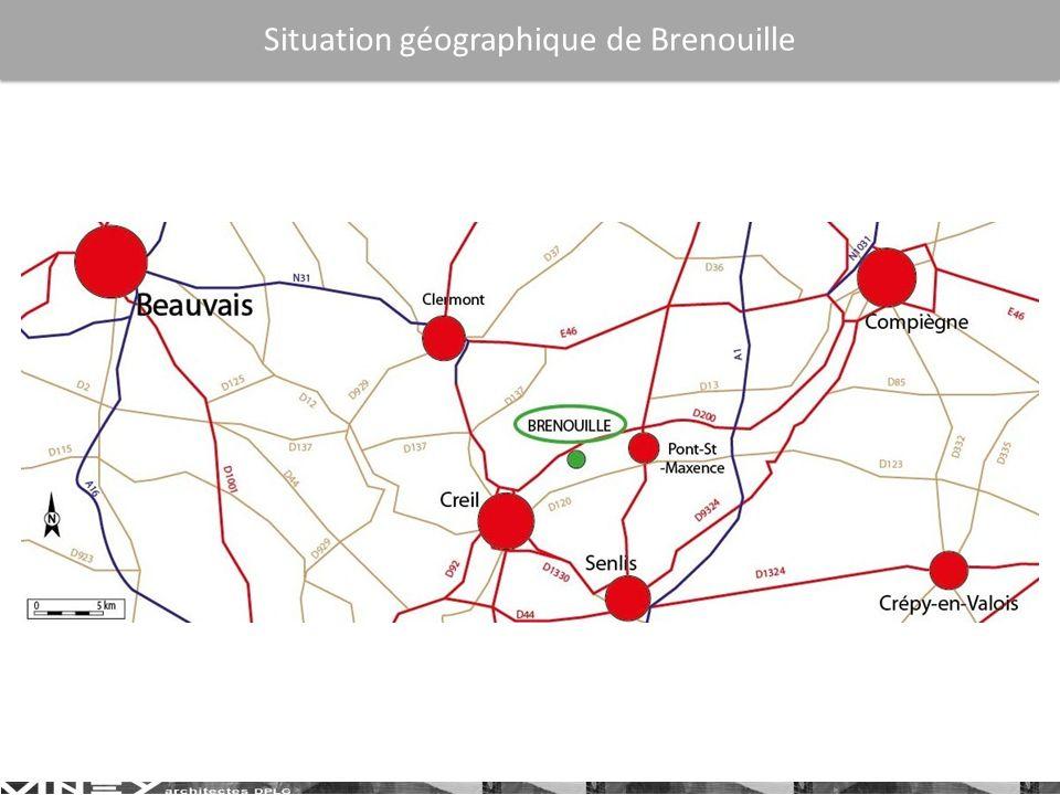 Situation locale de Brenouille
