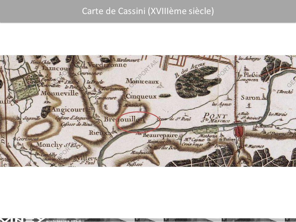 Carte de Cassini (XVIIIème siècle)