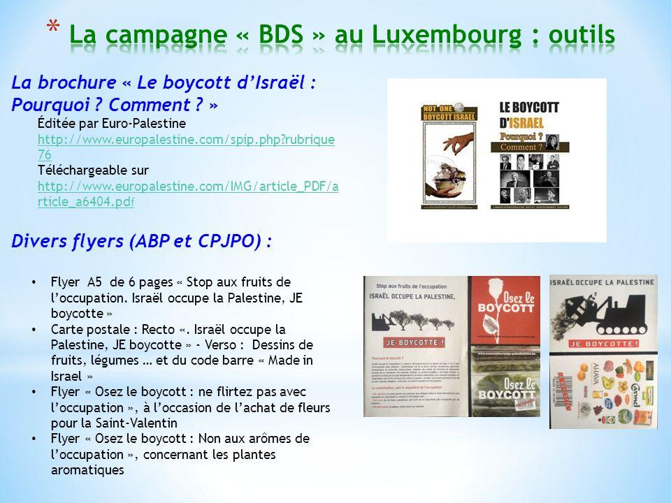 La brochure « Le boycott dIsraël : Pourquoi . Comment .