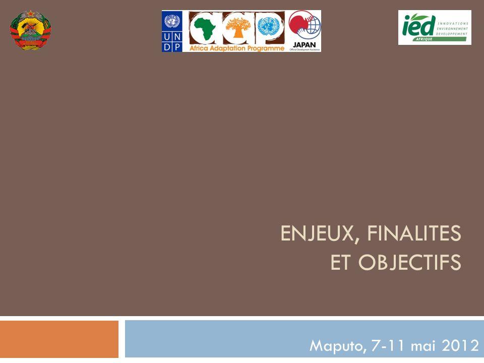 ENJEUX, FINALITES ET OBJECTIFS Maputo, 7-11 mai 2012
