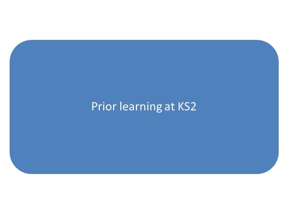 Prior learning at KS2