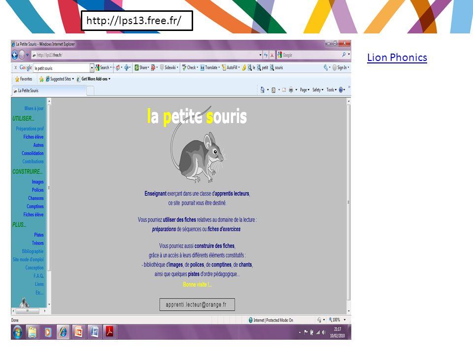 http://lps13.free.fr/ Lion Phonics
