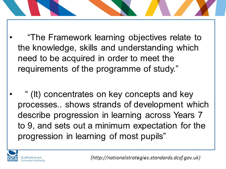 Non- statutory A pathway for progression A pathway for progression Best practice: renewed focus on learning rather than teaching Best practice: renewed focus on learning rather than teaching