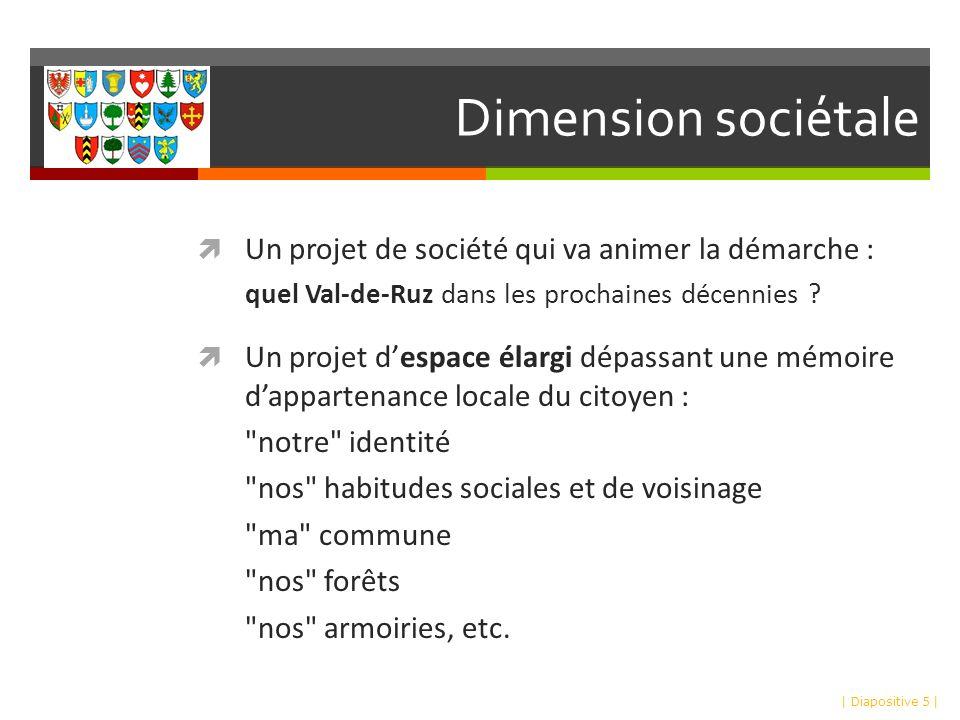 Dimension sociétale Un projet de société qui va animer la démarche : quel Val-de-Ruz dans les prochaines décennies .