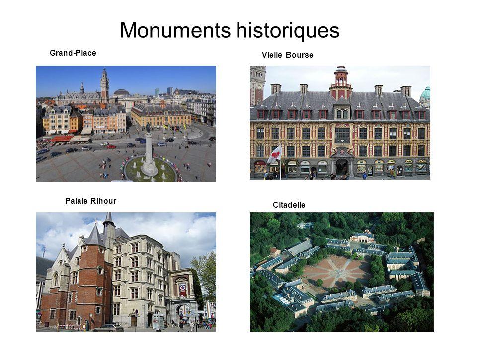 Monuments historiques Grand-Place Vielle Bourse Palais Rihour Citadelle