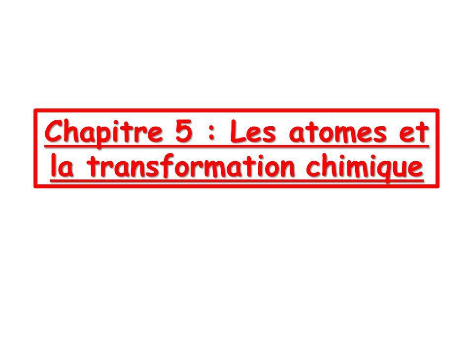 I) La masse se conserve-t-elle lors dune transformation chimique.
