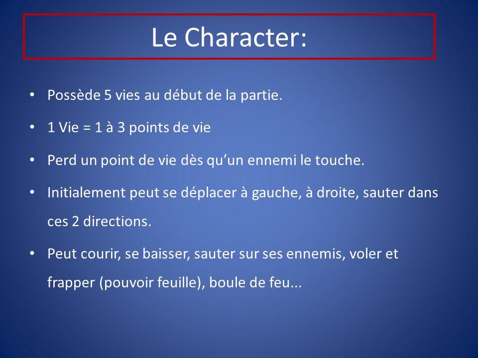 Le Character: Possède 5 vies au début de la partie.