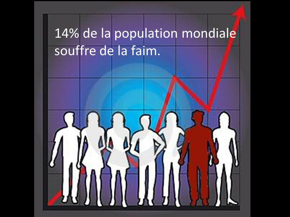 14% de la population mondiale souffre de la faim.