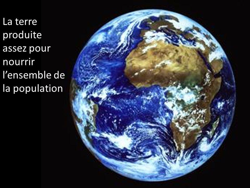La terre produite assez pour nourrir lensemble de la population