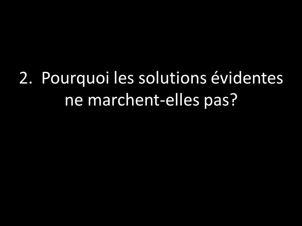 2. Pourquoi les solutions évidentes ne marchent-elles pas?