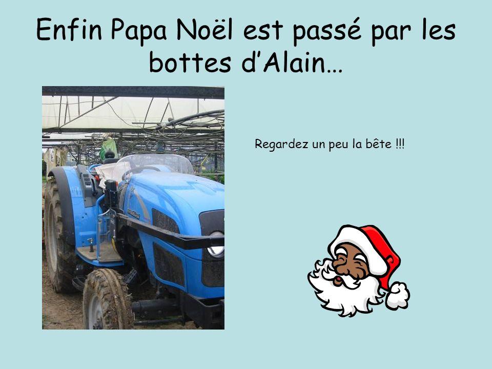 Enfin Papa Noël est passé par les bottes dAlain… Regardez un peu la bête !!!