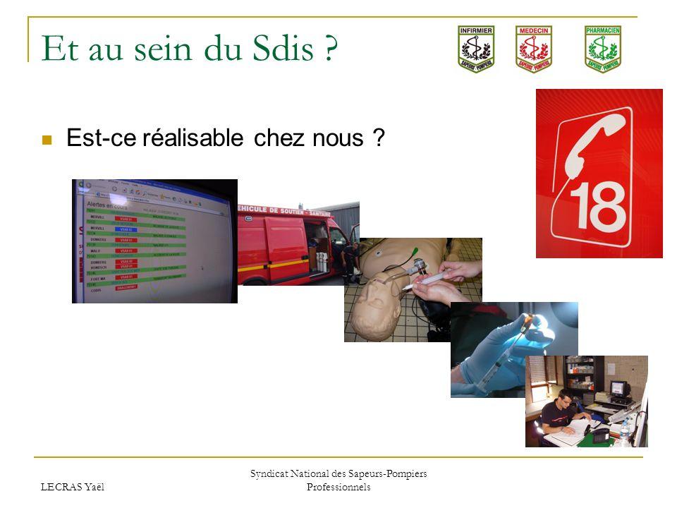 LECRAS Yaël Syndicat National des Sapeurs-Pompiers Professionnels Et au sein du Sdis ? Est-ce réalisable chez nous ?