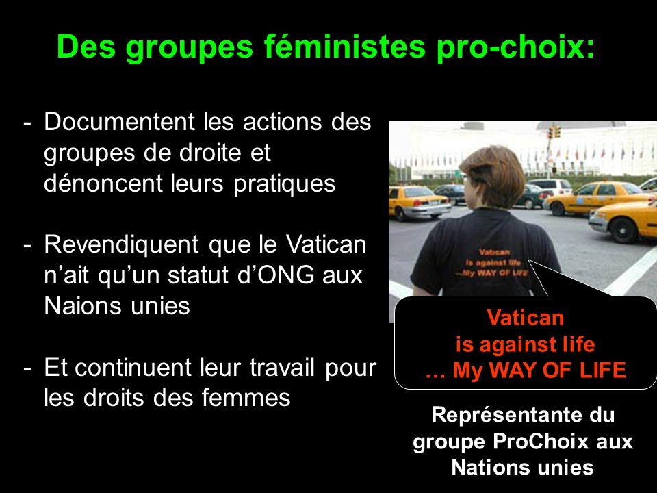 Quelles sont les stratégies des groupes féministes face aux groupes de droite
