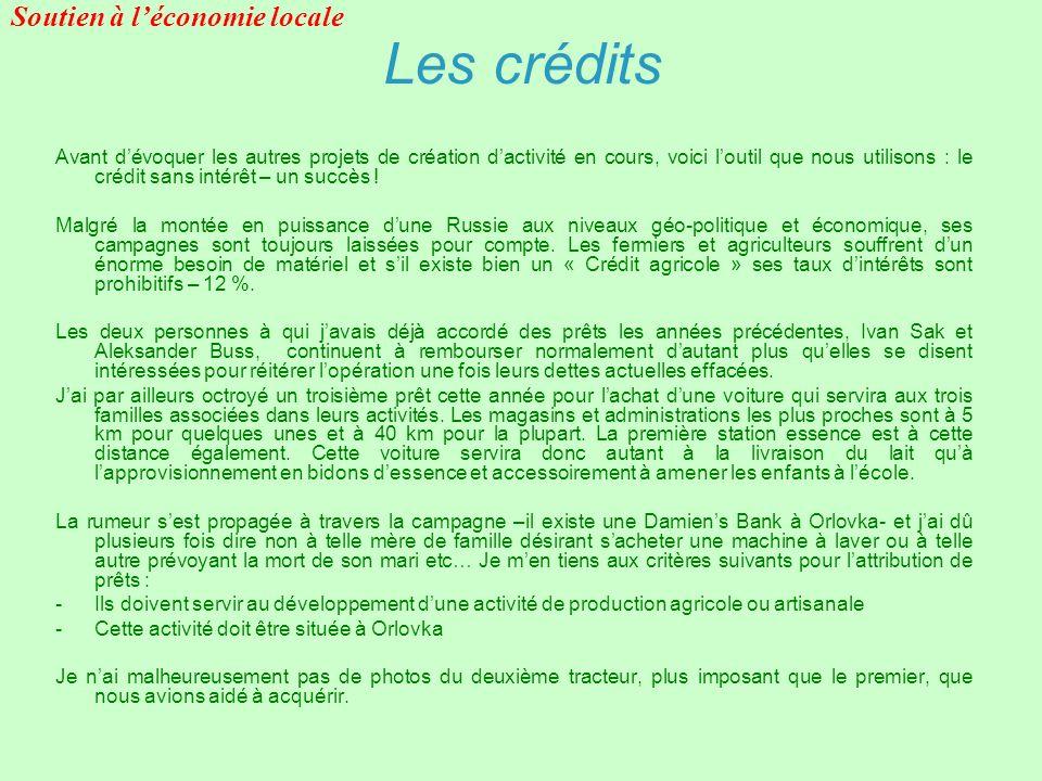 Les crédits Avant dévoquer les autres projets de création dactivité en cours, voici loutil que nous utilisons : le crédit sans intérêt – un succès ! M