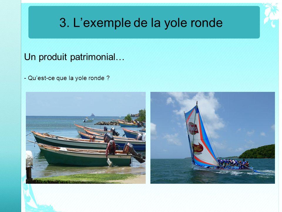 3. Lexemple de la yole ronde Un produit patrimonial… - Quest-ce que la yole ronde ?