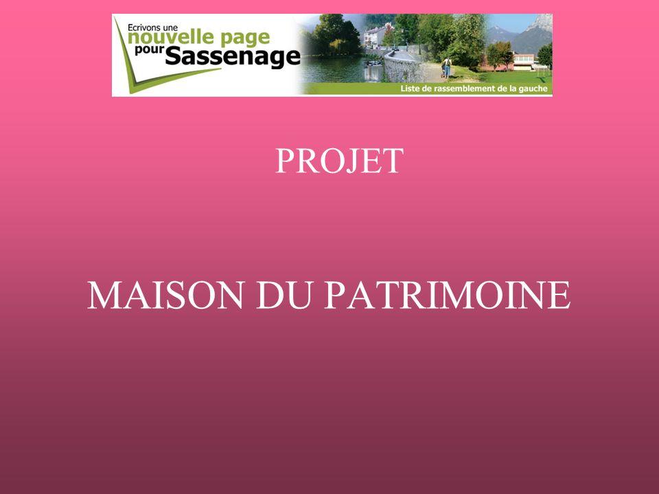 MAISON DU PATRIMOINE PROJET