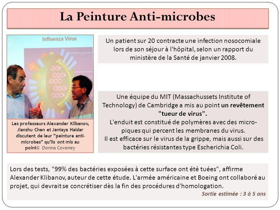 La Peinture Anti-microbes Un patient sur 20 contracte une infection nosocomiale lors de son séjour à l'hôpital, selon un rapport du ministère de la Sa