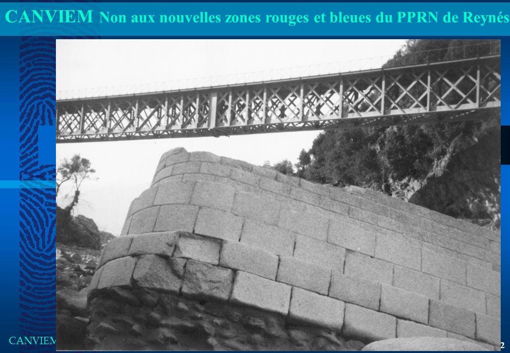 CANVIEM Non aux nouvelles zones rouges et bleues du PPRN de Reynés CANVIEM Présentation du jeudi 05 janvier 2012 18h00 2 Inondation La Forge (base Aïg