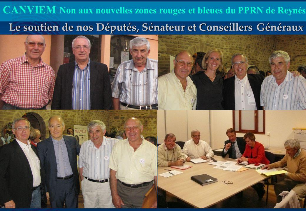 CANVIEM Non aux nouvelles zones rouges et bleues du PPRN de Reynés CANVIEM Présentation du jeudi 05 juillet 2012 18h00 6 Le soutien de nos Députés, Sé