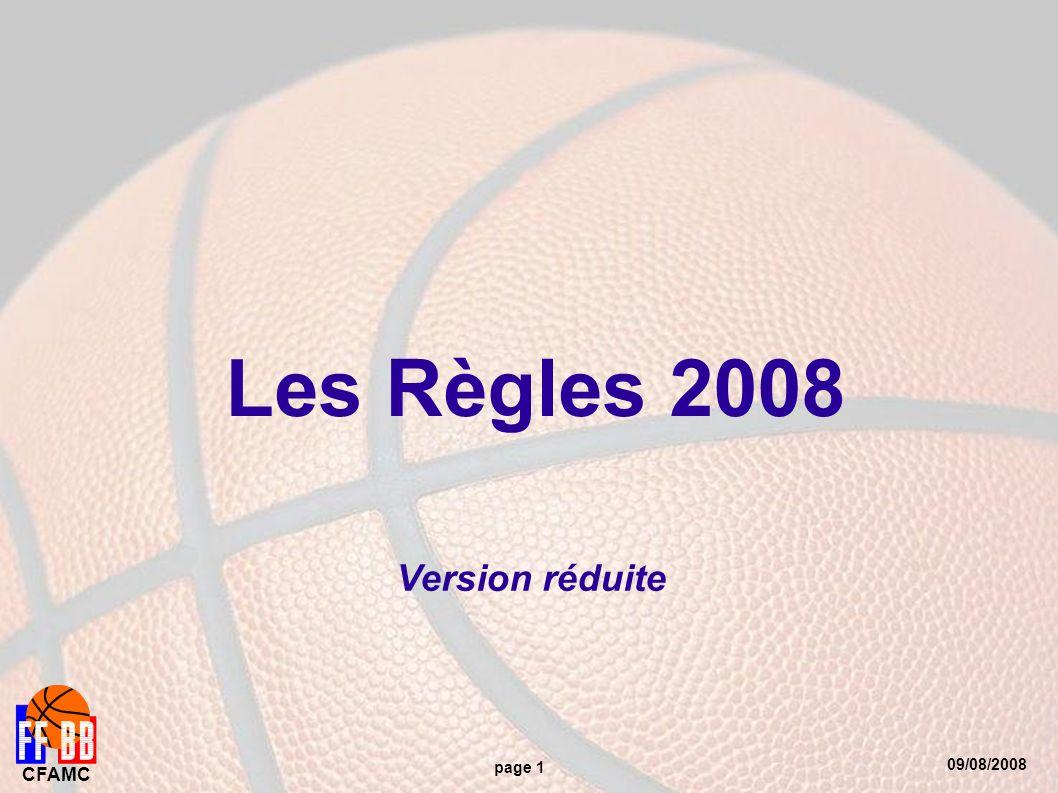 09/08/2008 CFAMC page 1 Les Règles 2008 Version réduite