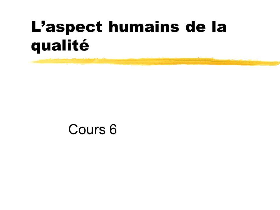 Cours 6 Laspect humains de la qualité