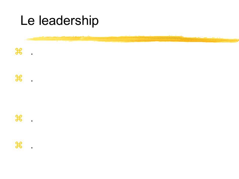 Le leadership z.z.z.z.z.z.z.z.