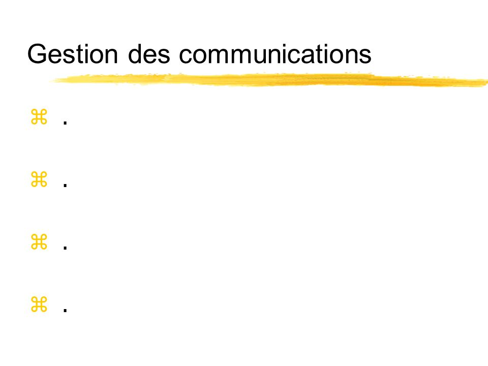 Gestion des communications z.z.z.z.z.z.z.z.