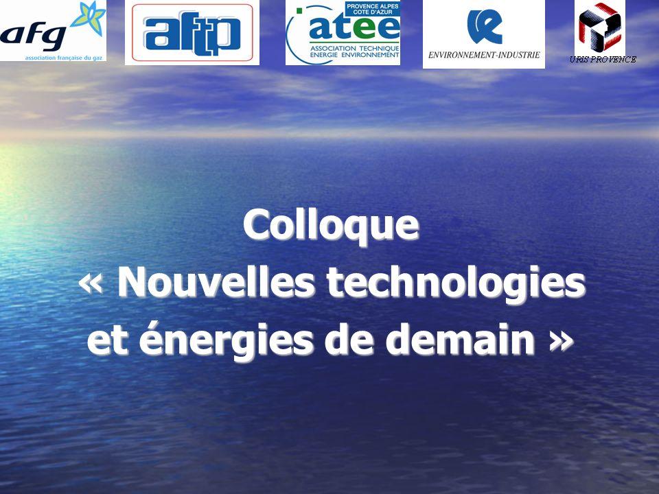 Colloque « Nouvelles technologies et énergies de demain »