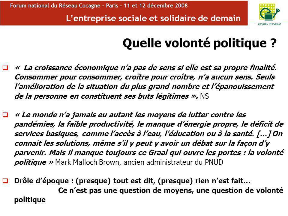 Forum Cocagne Quelle volonté politique .
