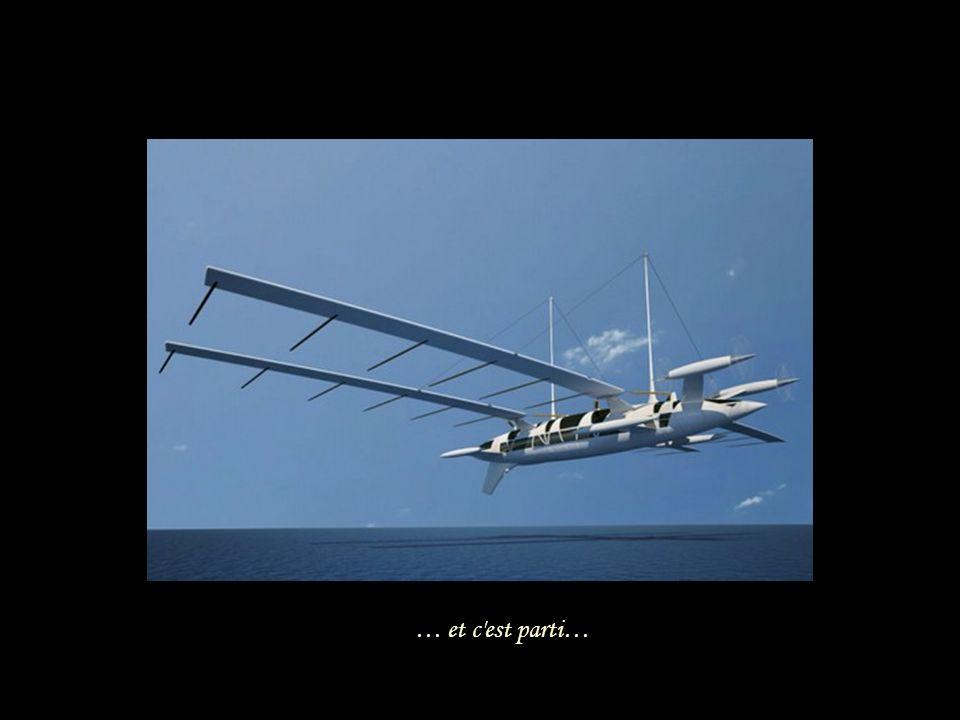 Version avion Envergure: 90,4 mètres.Hauteur: 27,6 mètres.