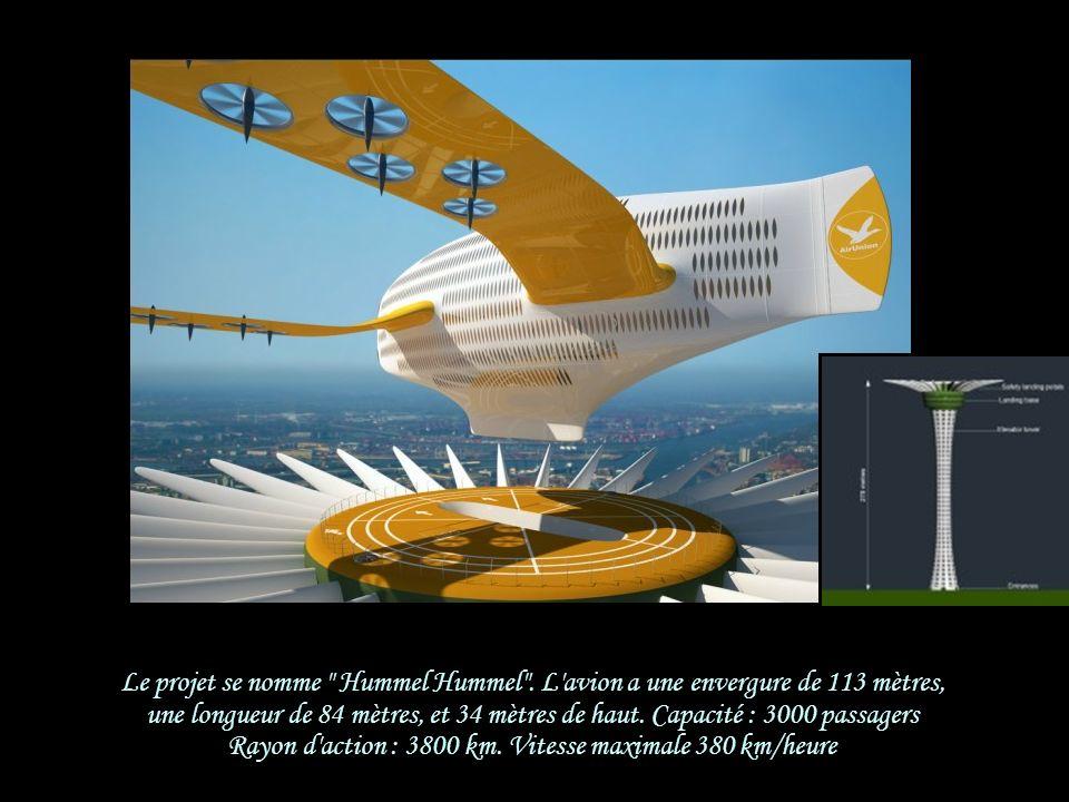Dans les phases de décollage et d'atterrissage, les 24 moteurs de l'A3000 basculent à l'horizontale L'engin se comporte alors comme un hélicoptère cap