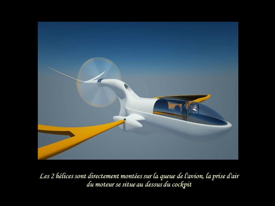 Le dérive de l'avion fait office de safran en configuration bateau Envergure des ailes : 37,7 m. L'autonomie en pleine charge est de 450 km