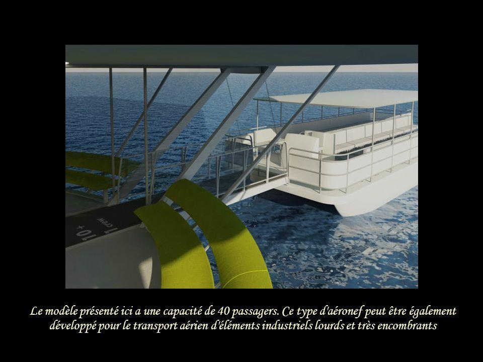 Ce flying-yacht est destiné à la visite de sites touristiques. Il décolle et atterrit sur leau Il sera enregistré en tant que bateau selon le code de