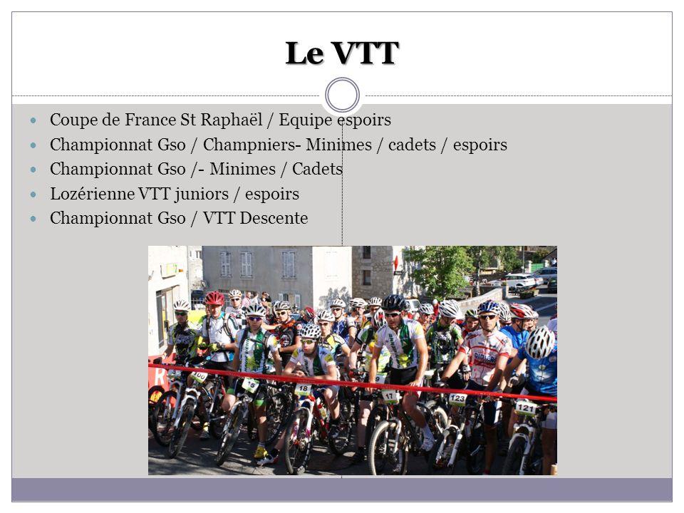 Le VTT Coupe de France St Raphaël / Equipe espoirs Championnat Gso / Champniers- Minimes / cadets / espoirs Championnat Gso /- Minimes / Cadets Lozéri