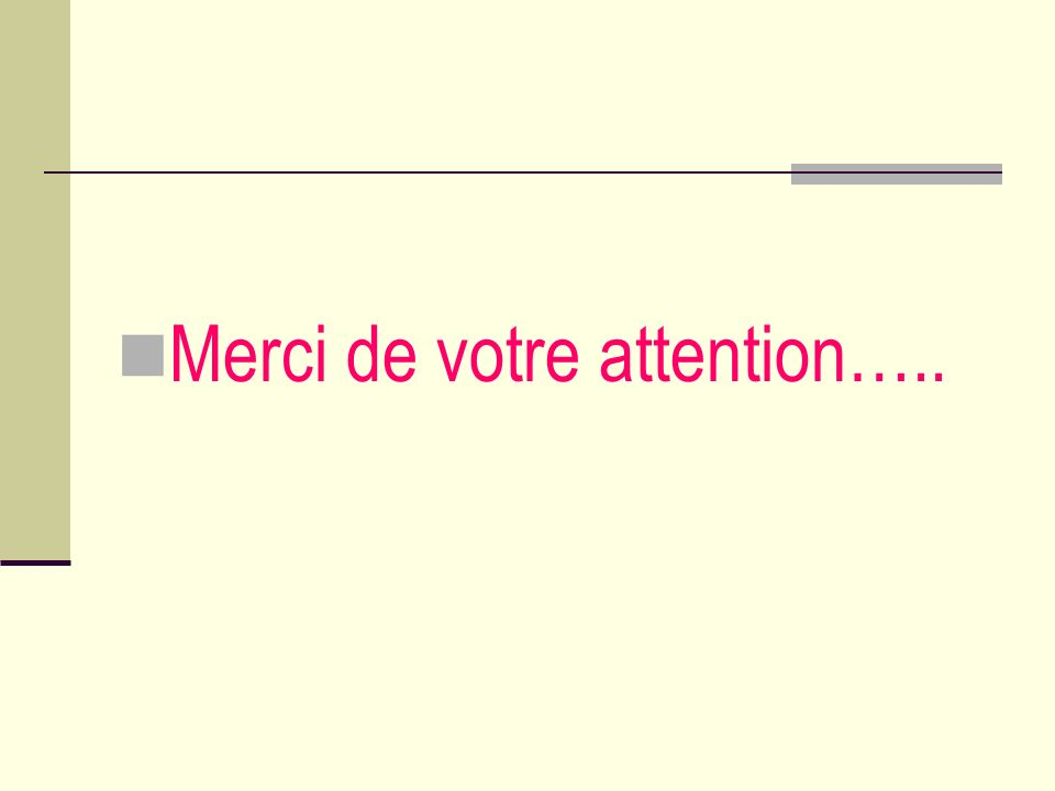 Merci de votre attention…..