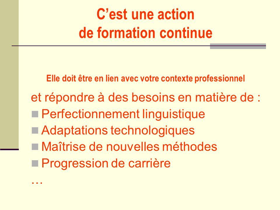 Conseils des évaluateurs Inscrire cette formation dans un projet décole ou détablissement Penser à démultiplier les acquis au retour Développer la dimension européenne de la démarche Passer dune formation passive à une formation interactive