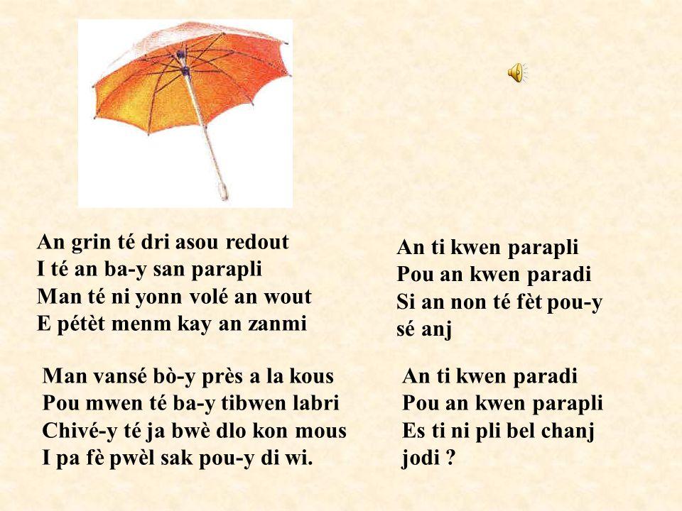 Pour comparer les pronoms dans les différents créoles français : http://creoles.free.fr/Cours/pronoms1.htm Pour une petite découverte du créole martin