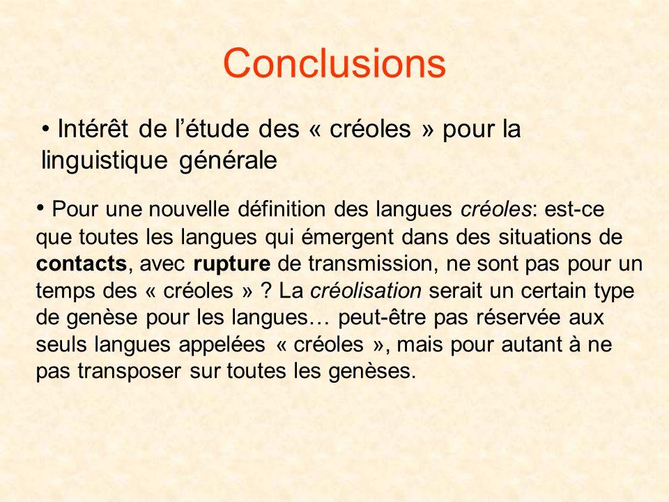 Peut-on continuer à appeler « créoles » ces langues indéfiniment ? Na-t-on pas des systèmes originaux qui constituent le guadeloupéen, le martiniquais