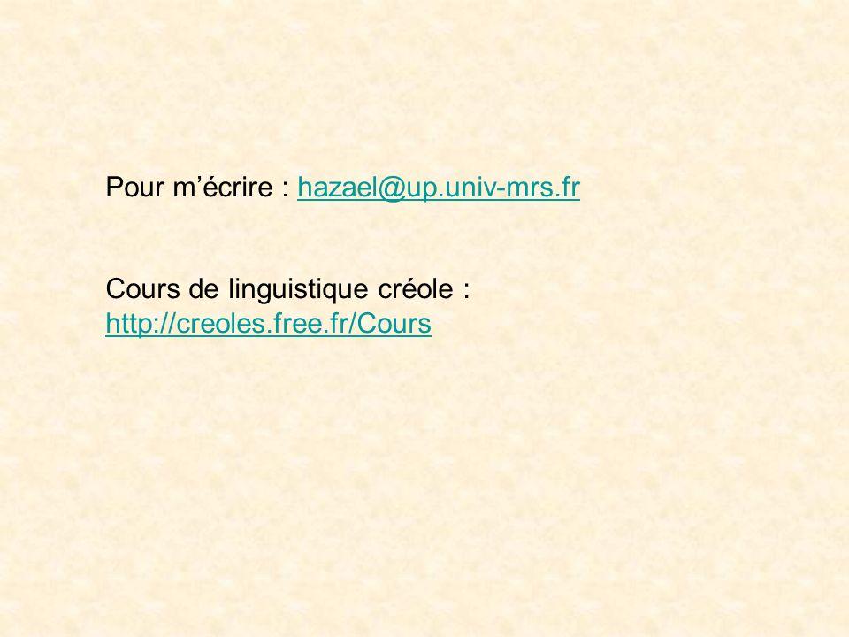 Quelles sont les types de genèses des langues? Sans doute de nombreux types : en établir linventaire. Tous les « créoles » historiques ne sont pas nés