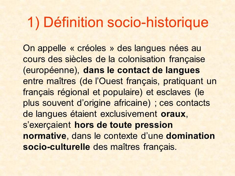 Les principaux créoles français dans le monde (ZAC puis OI) Louisiane 4 000 000 habitants (mais peu de créolophones) Haïti 7 000 000 habitants Guadelo