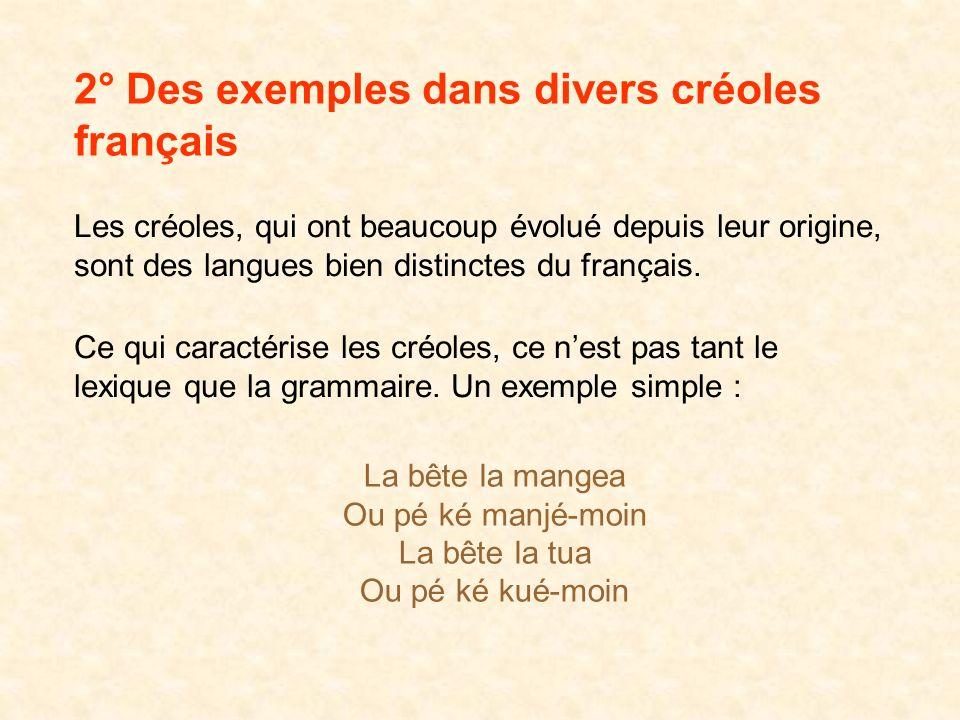Aujourdhui « créoles » est souvent synonyme de « mélange de langues » (idée largement répandue dans le grand public) idée qui entraîne dailleurs une c