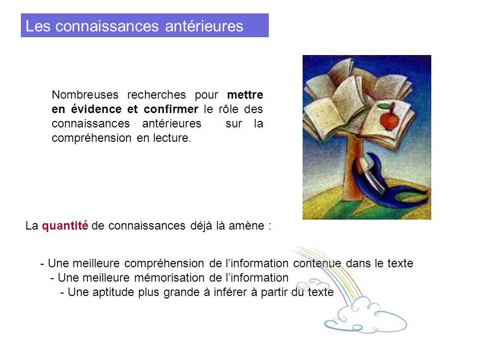 Etude également sur la qualité des connaissances des lecteurs et surtout sur le rôle des connaissances erronées.